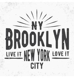 Brooklyn vintage stamp vector image