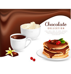 Chocolate collection poster vector
