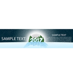 Christmas banner 2017 panoramma with design vector image