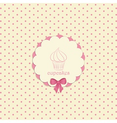 cupcake label vector image vector image