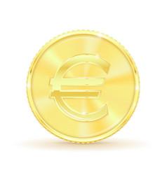 euro golden coin vector image