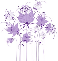 Floral design stylized flowers vector