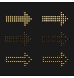 Golden arrows vector image