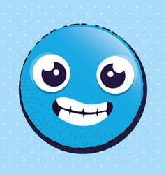 happy emoji emoticon character vector image