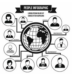 Human infographic simple style vector