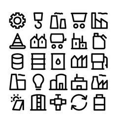 Industrial Icons 1 vector image vector image