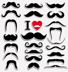 Moustaches set vector