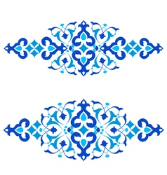 Ottoman motifs blue design series of fifty three vector