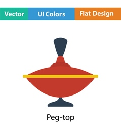 Peg-top icon vector