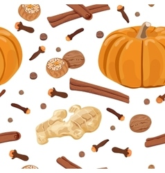 Pumpkin spice seamless pattern set vector image