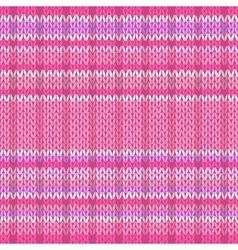 Seamless Pattern Knit Texture Fabric Color Tracery vector image