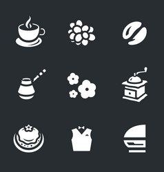 set of coffee icons vector image