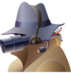 Spy vector image vector image