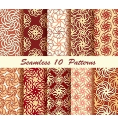 Ten Floral Seamless Pattern vector image vector image