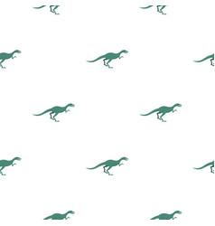 Velyciraptor dinosaur pattern seamless vector