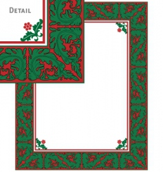 vintage christmas frame vector image vector image
