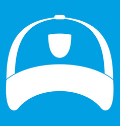 Winter hat icon white vector