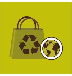 World recycling bag design graphic vector