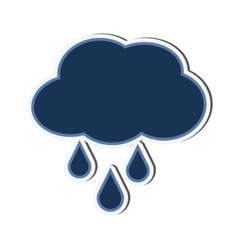 Cloud drop raining design vector