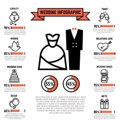 Wedding infographics with marriage and vector image