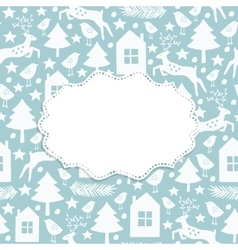 Winter seamless pattern and frame vector
