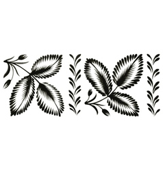 floral decorative ornament vector image