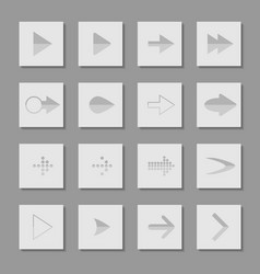 Set arrow icons of web design elements vector