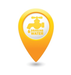 Drinking water map pointer yellow vector
