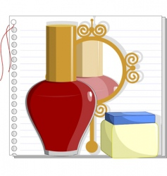 Mirror and nail polish vector