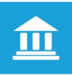 Bank white icon vector image