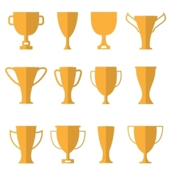 Golden cups vector