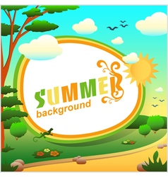 Summer abstract background or card vector