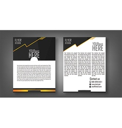Flyer design layout template in a4 size with black vector