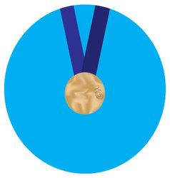 Icon bronze medal vector