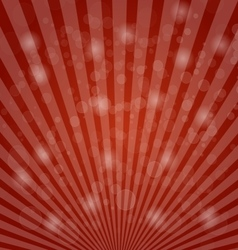 Abstract bokeh on red background vector