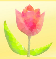 abstract flower of triangles vector image