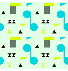 abstract shapes bright seamless pattern vector image