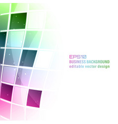 Business colorful abstract background with square vector