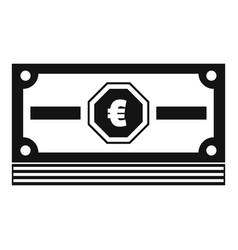cash money icon simple black style vector image vector image