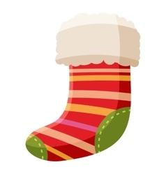Christmas sock icon cartoon style vector image