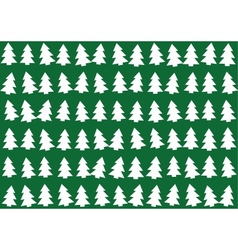 Christmas trees pattern background vector image