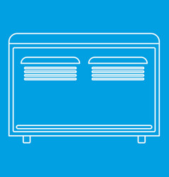 Con heater icon outline style vector