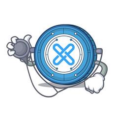 Doctor gxshares coin character cartoon vector