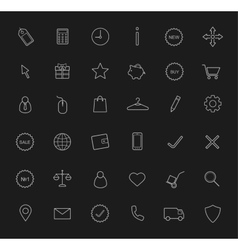 E-commerce linear icons set Chalk vector image vector image
