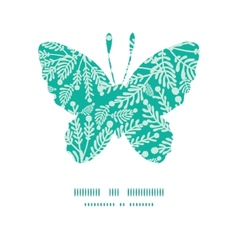 Emerald green plants butterfly silhouette vector