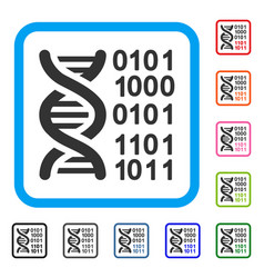 Genome code framed icon vector