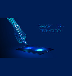 hand smart technology vector image