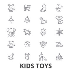 kids toys playing baby toy children toy kids vector image