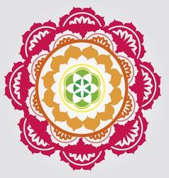 lotus paradise mandala vector image vector image