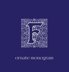 Monogram f vector